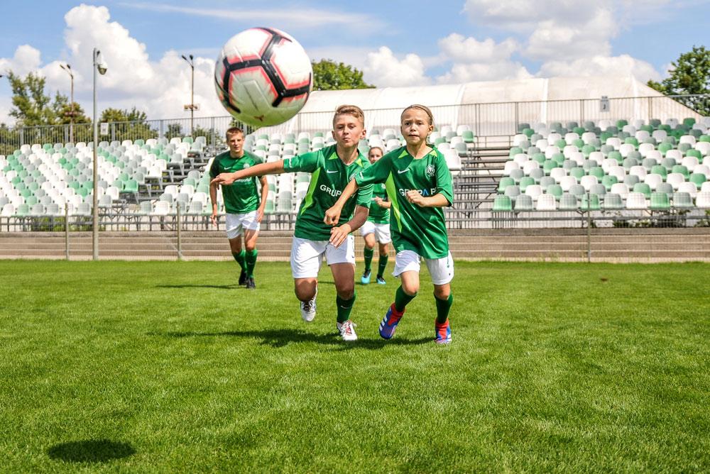 Szkolenie dzieci w Akademii Warty Poznań